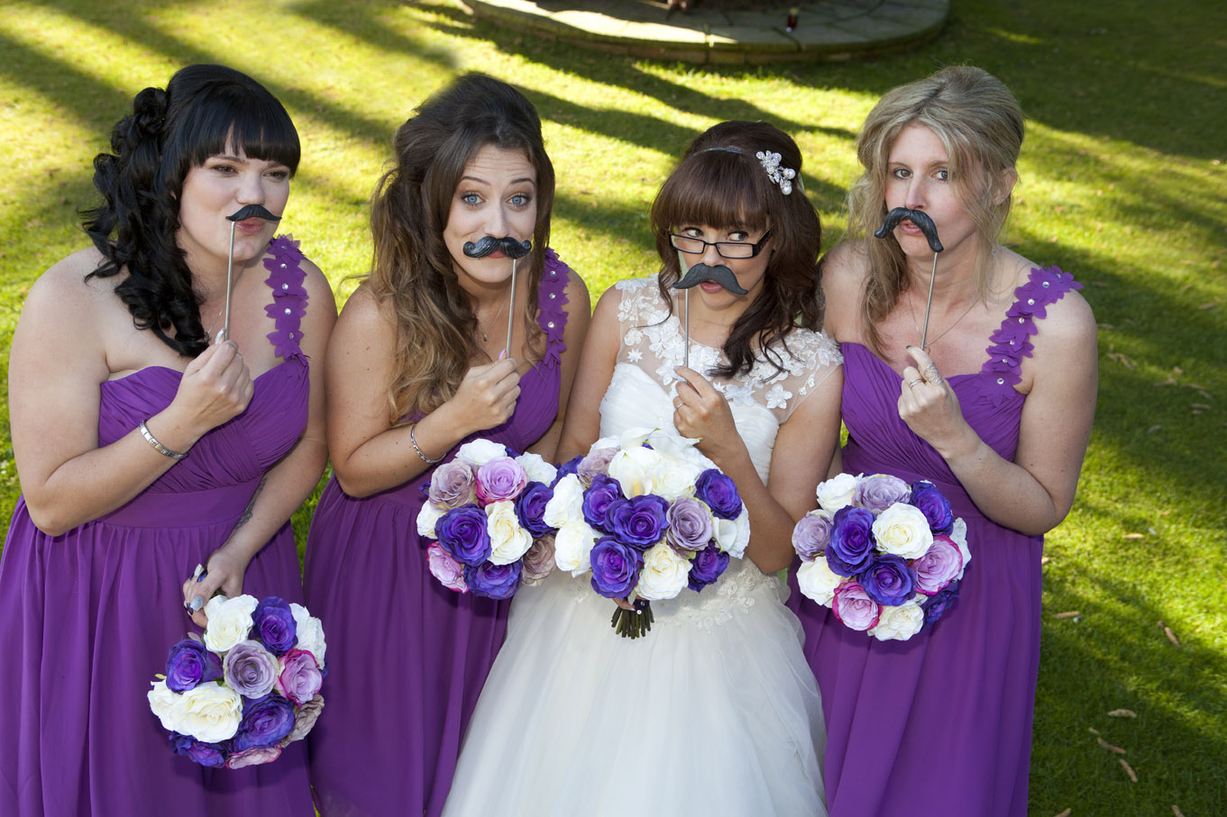 Bride with a sense of humour.