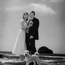 Beach wedding at Trebarwith