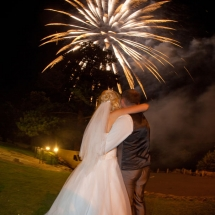 Plymouth wedding with fireworks